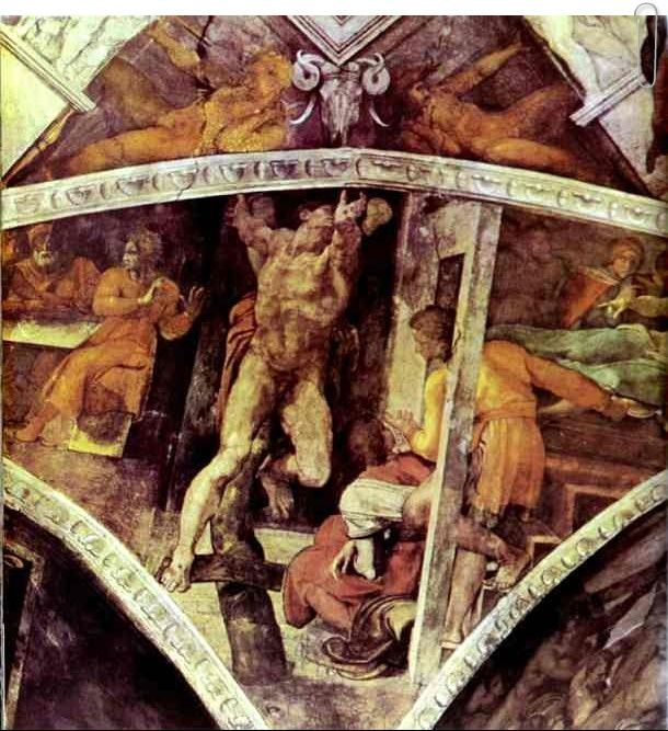 The Punishment of Haman by Michelangelo