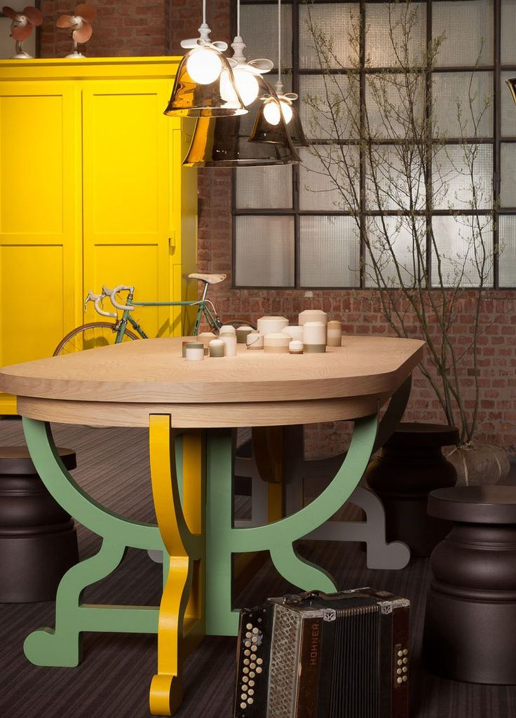 Moooi's Paper Table Patchwork Bell Lamps * Interiors * The Inner Interiorista