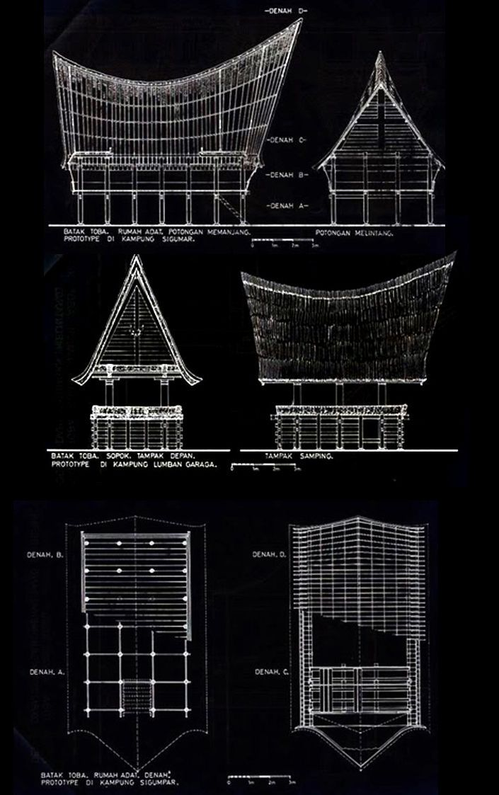 rumah adat plan section elevation - Google'da Ara