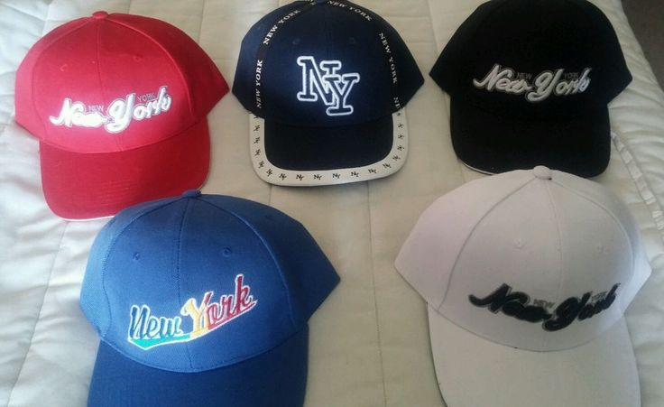 5 Velcro Back Caps Hat 3D Embroidery New York Logo Tourist Hats Lids New Colors…