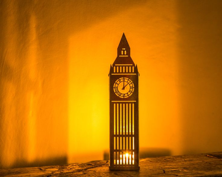 Tin Lantern candle holder Big Ben. FREE SHIPPING Charming piece of decor to use as a candle holder or just a strong eye catcher