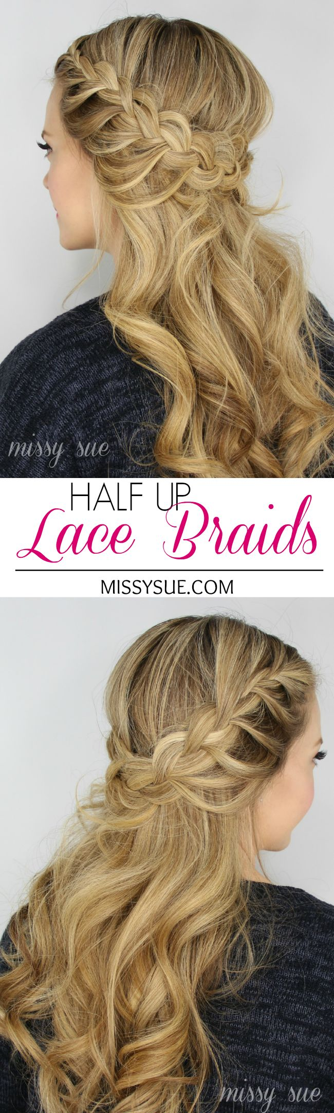Half Up Lace Braids