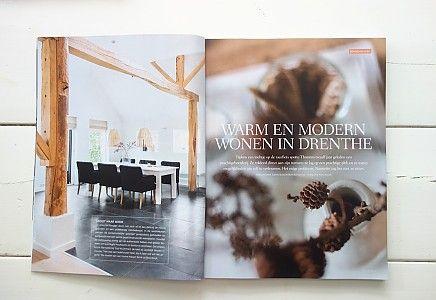 Stijlvol Wonen - Warm en modern wonen in Drenthe - Bij B&B Westenesch - fotografie Hans Mossel - Styling Sabine Burkunk