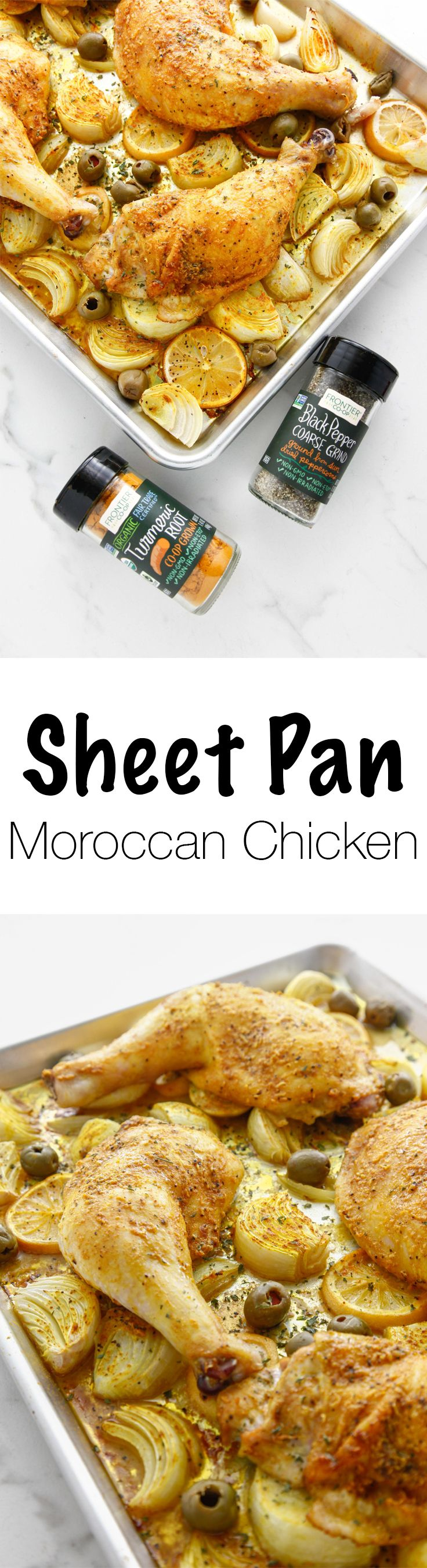 Sheet Pan Moroccan Chicken via @thebrooklyncook