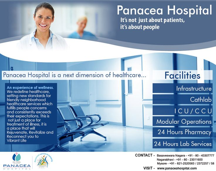 Panacea Hospital offering the best services for your care and better health and latest facilities available at one place.