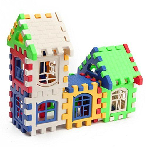 Kids House Building Blocks Educational Learning Construction Bricks Puzzle Toy Set (Standard)