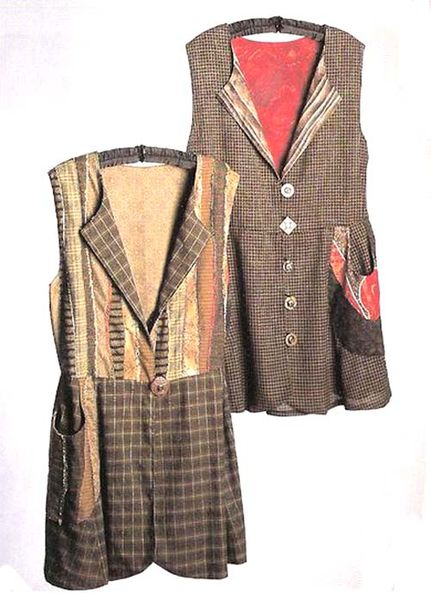 Link is for pattern. Great for re-purposing mens shirts though. Wearable Art - Ikinmakeit Vest - Nancy Mirman : Shibori Dragon