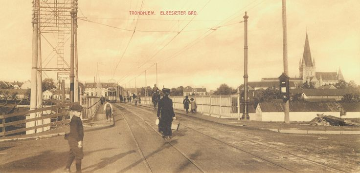 Trondheim, Norway in circa 1914
