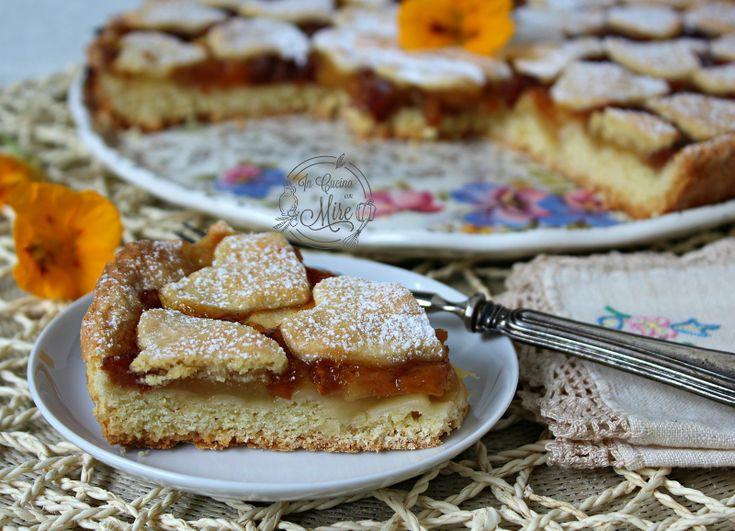 Crostata con cuori e composta di mele   In cucina cobn Mire Crostata cuori .. #crostatacuori #gialloblogs #ricetta #foodporn #dolci #dessert #food #compostamele #buona