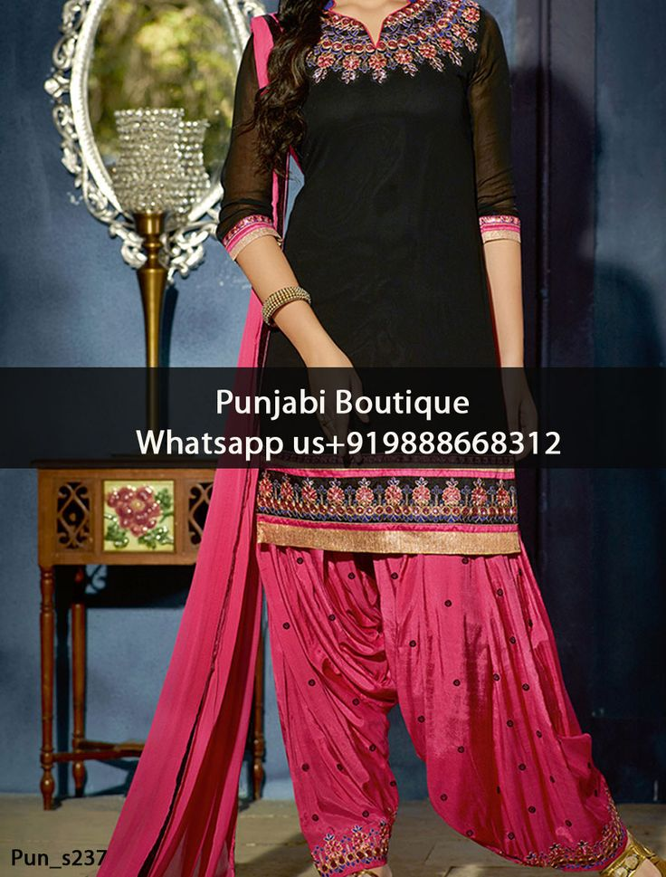 Loveable Dark Coral And Black Embroidered Punjabi Suit Product Code: Pun_s237 To order this dress , please call or WhatsApp us at +919888668312 We can design this Suit in any color combination or on any fabric (price may vary according to fabric)