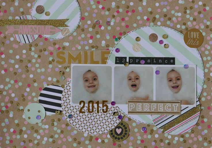 Scrapbook page - Me and My Big Ideas  - Golden Rush
