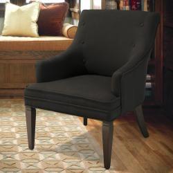 Dark brown accent chair.