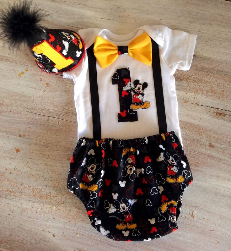 Cake Smash Mickey Mouse Outfit Boys 1st Birthday Birthday outfit Boys Birthday onesie First Birthday Boys bow tie Disney by CuteAsClaire on Etsy https://www.etsy.com/listing/212455017/cake-smash-mickey-mouse-outfit-boys-1st