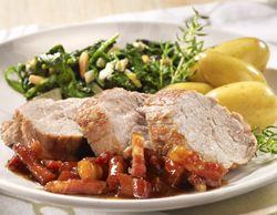Recept » Colruyt Culinair: gemarineerd varkenshaasje met luiks speksausje