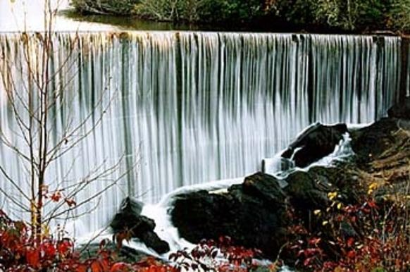 Stunning waterfall near Cherokee, North Carolina