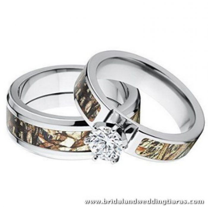 His And Hers Camo Wedding Rings