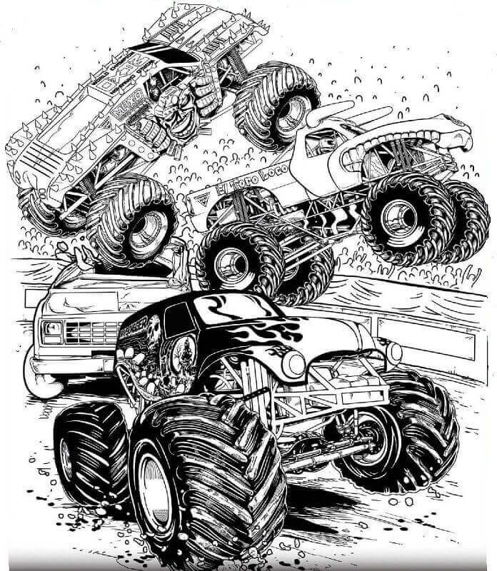 Monster Jam Grave Digger Coloring Pages Collection