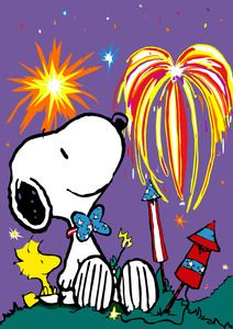 Snoopy And Woodstock July 4 Th