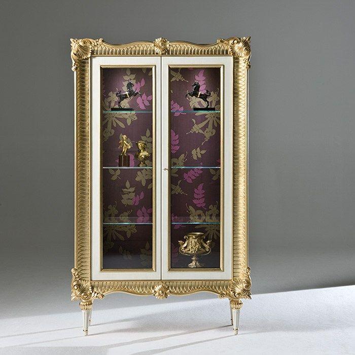 Vetrina in legno con illuminazione integrata PITTI Collezione Palazzo by Rozzoni Mobili d'Arte