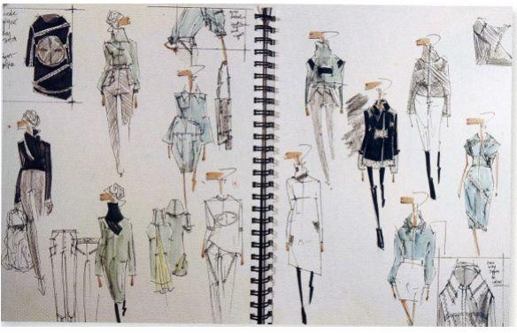 Fashion Sketchbook - fashion design sketches; fashion portfolio // Hana Rutledge