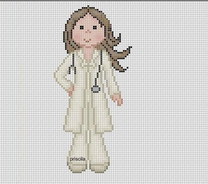 0 point de croix doctoresse infirmiere - cross stitch doctor nurse