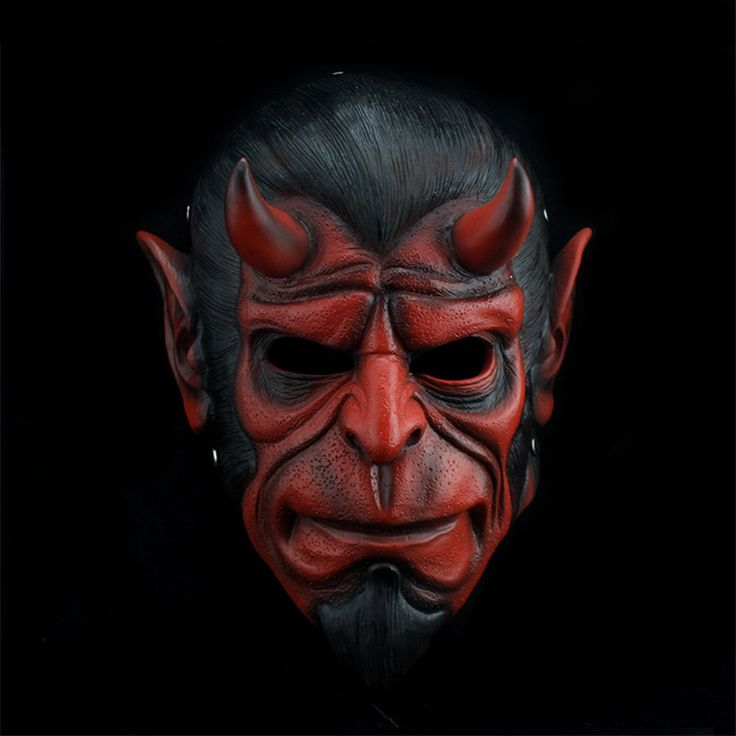 Halloween Horror mask game Anime Cosplay theme props Hellboy trick toys craft collection gift fancy dress party decorations