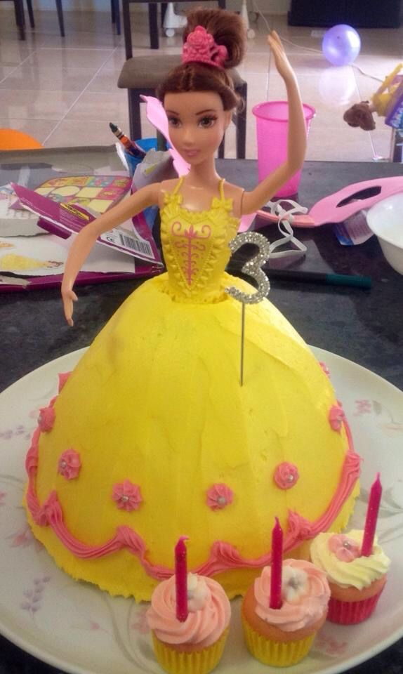 Belle (beauty and the beast) Dolly Varden cake