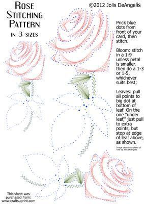 Rose Stitching Pattern in 3 sizes on Craftsuprint designed by Jolis DeAngelis - This pattern is based on a photo I snapped of a gorgeous rose. You can stitch it in three different sizes, or perhaps you can resize it yet again to suit your own needs/card/project. It is great for all occasions and can be stitched in any colorway you prefer. Have fun! - Now available for download!: