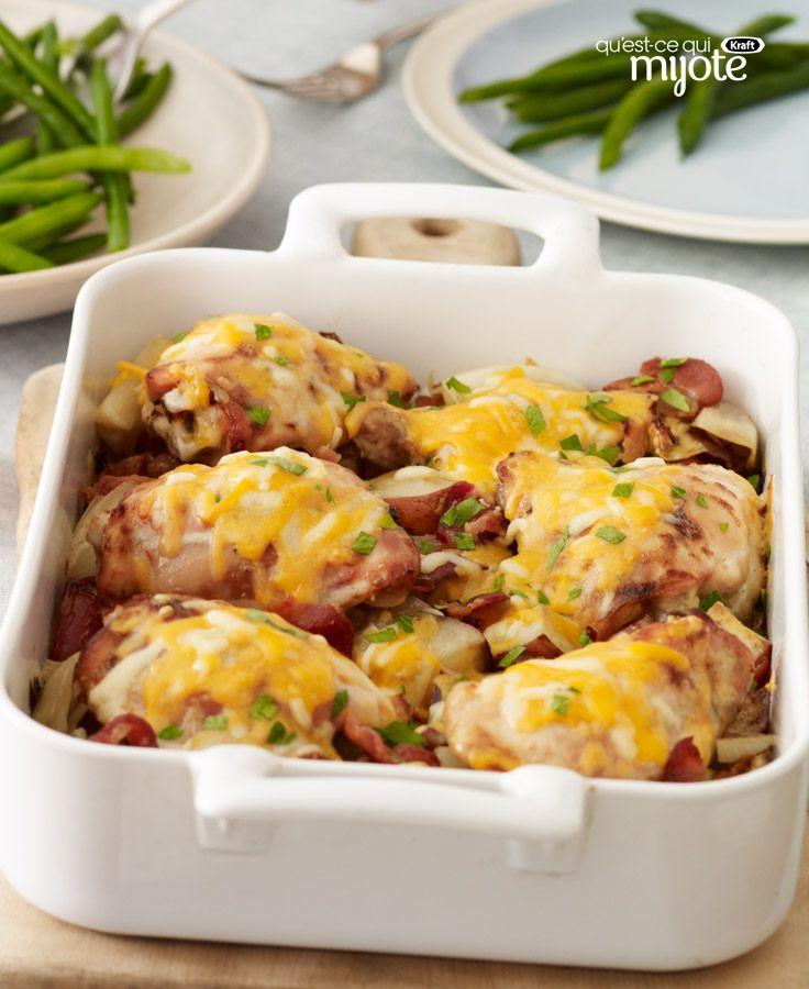 Poulet et pommes de terre rouges rôtis #recette