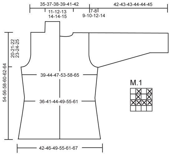 """Marit / DROPS 119-6 - Saco DROPS, de punto, con patrón para realzar textura y cuello, en 2 hilos """"Alpaca"""". Talla: S – XXXL. - Free pattern by DROPS Design"""