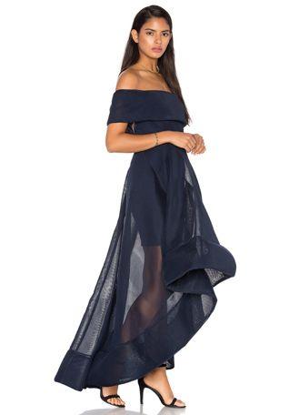 Bronx and Banco Tulip Dress in Navy | REVOLVE