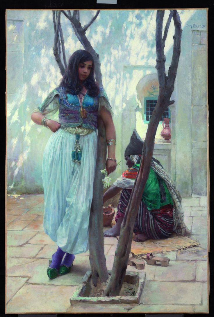 In a Courtyard, Tunis by Ferdinand Max BredtOrientalist Painting, 1868 1921, Bredt 1921, Max Bredt, Ferdinand Max, Bredt 18601921, German Painters, Painters Ferdinand, Bredt 18681921