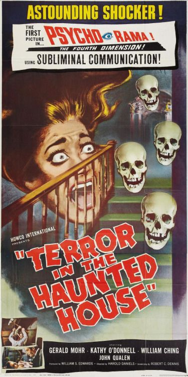 500 best i want your skulls images on pinterest skull art skulls and film posters for Classic haunted house movies