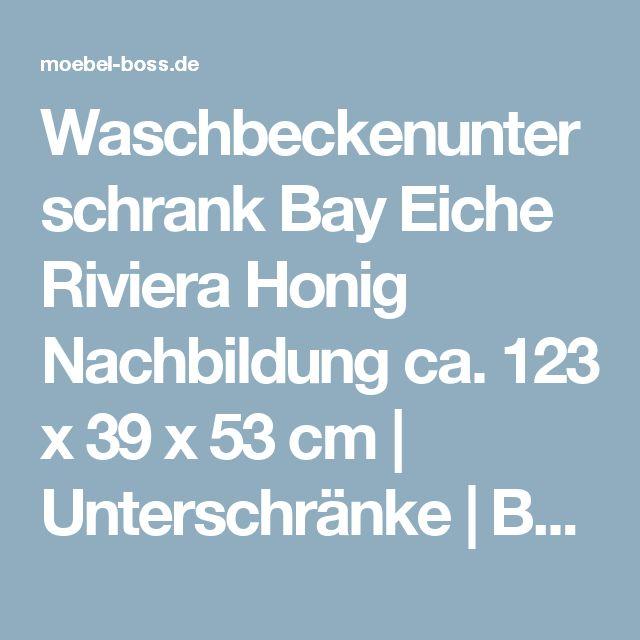 Trend Waschbeckenunterschrank Bay Eiche Riviera Honig Nachbildung ca x x cm Unterschr nke