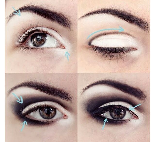 Love this look, black and white, eye enlarging makeup for any colour!