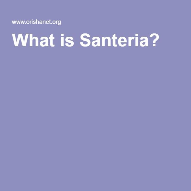 What is Santeria?