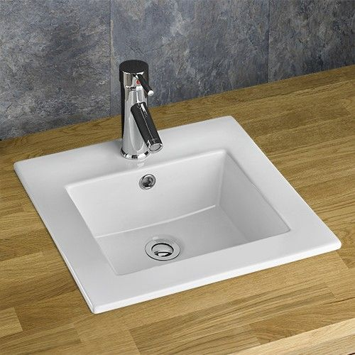 Berne 41cm X 40cm Recessed Inset Square Countertop Sink · Semi Recessed  BasinBathroom ...