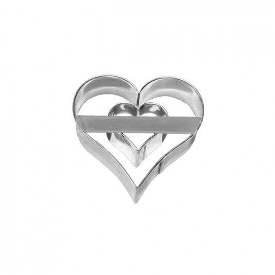 Foremka do wykrawania ciastek SERCE DWA W JEDNYM #bakeshop #cookiecutter #love #heart #baking