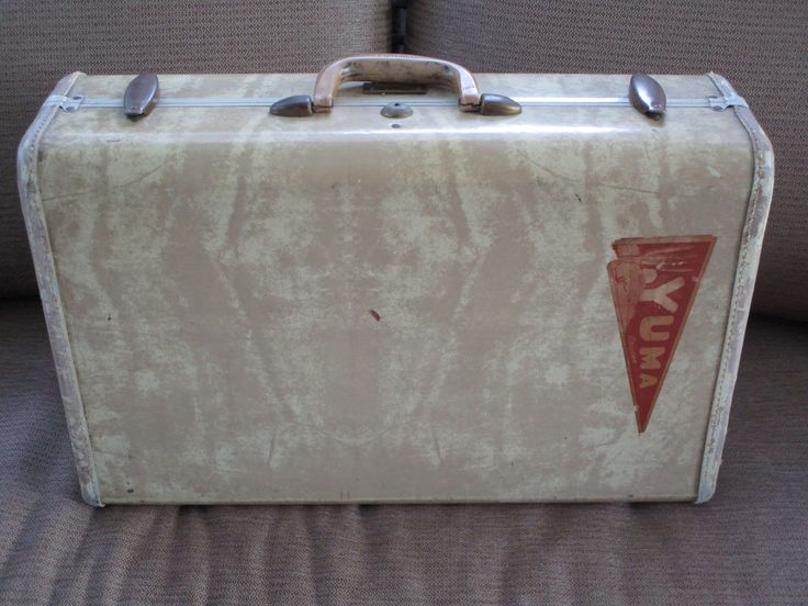 Vintage Samsonite Suitcase Large Cream Tan Marbled Hard Case Shwayder Bros.