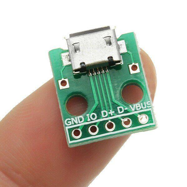 Micro Usb To Dip Female Socket B Type Pcb Microphone 5p Patch To Dip 2 54mm 5pcs Micro Usb Dip Female Socket Pcb Usb Micro Usb Microphone