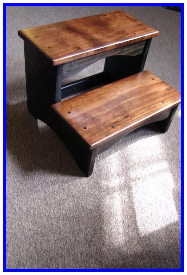 Bedside Step Stool 14 X 24 5 Or 6 Or 7 Tall Handcrafted