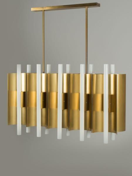Gio PONTI (1891 - 1979) - Rare suspension à dix lumières - Circa 1950 -