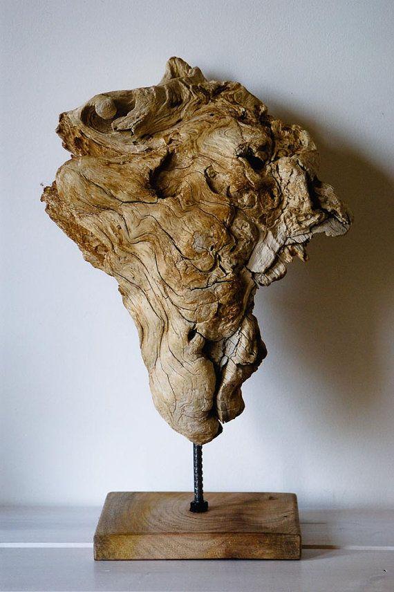 Driftwood Sculpture Mother Nature Creation Modern by MarzaShop, $75.00