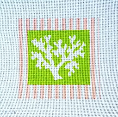 Needlepoint Coral from Lycette Designs - DIMENSIONS 8.5″ x 8.5″ MESH SIZE 13 mesh Share this