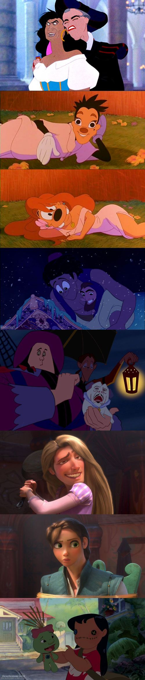 Disney face swaps can be so awkward