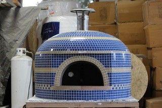 Forno Bravo Pizza Oven Napolino Blue and grey tile