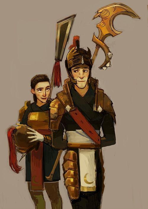 Kozmotis and Seraphina Pitchiner - Guardians of Childhood AU