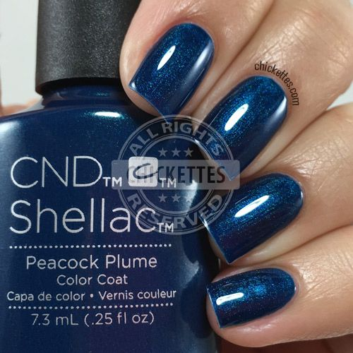 nails.quenalbertini: CND Shellac Peacock Plume | Chickettes