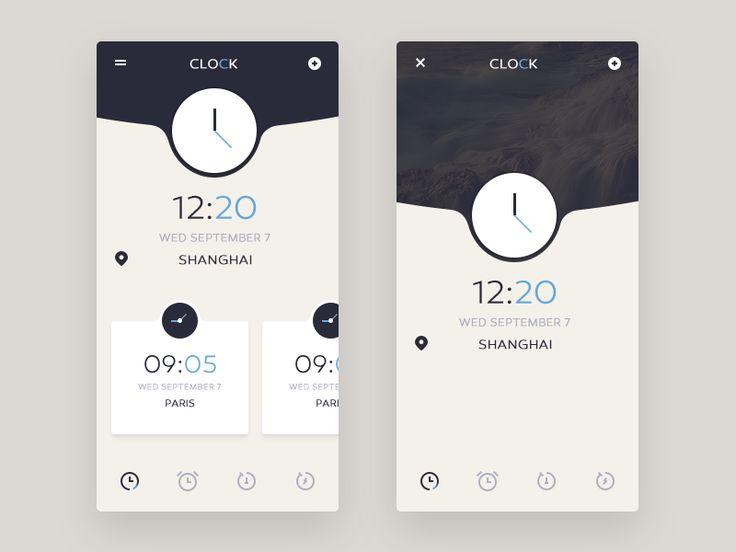clock by kaokao #Design Popular #Dribbble #shots