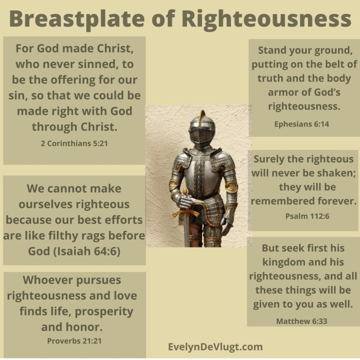 The Breastplate of Righteousness - Evelyn DeVlugt